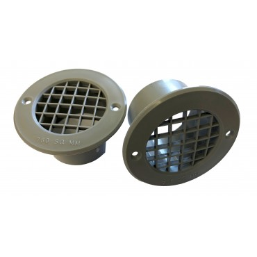 Gas Drop Vent Grey 35mm x 2