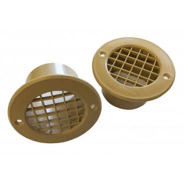 Gas Drop Vent Beige 35mm x 2