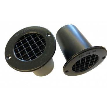 Gas Drop Vent Black 75mm x 2