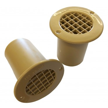 Gas Drop Vent Beige 75mm x 2