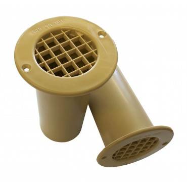 Gas Drop Vent Beige 120mm x 2