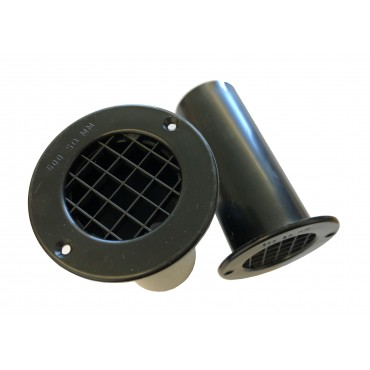 Gas Drop Vent Black 120mm x 2