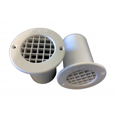 Gas Drop Vent Grey 75mm x 2
