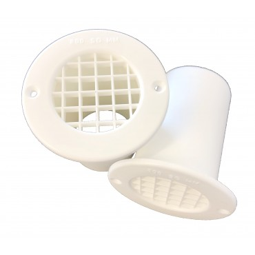 Gas Drop Vent White 75mm x 2