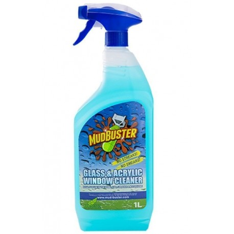 MUD BUSTER Glass & Acrylic Window Cleaner 1ltr Spray