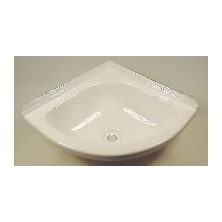 Mini Corner Basin For Caravan Or Camper Van - White