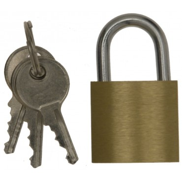 W4 Small Camping Padlock - Durable Brass - 3 Keys