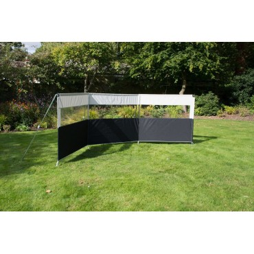 2021 Kampa Pro Windbreak Aluminium Framed Windbreak - 3 Section - 460 x 142cm