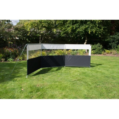 Kampa Pro Windbreak Aluminium Framed Windbreak - 3 Section - 460 x 142cm