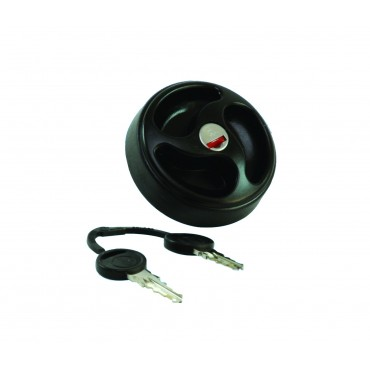 Black Water Filler Cap C/W Keys