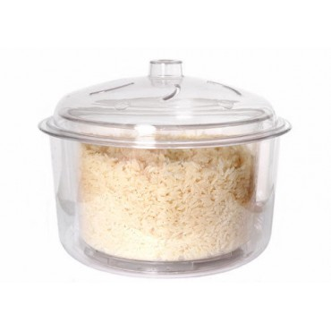 Polycarbonate Microwave Rice & Vegetable Steamer