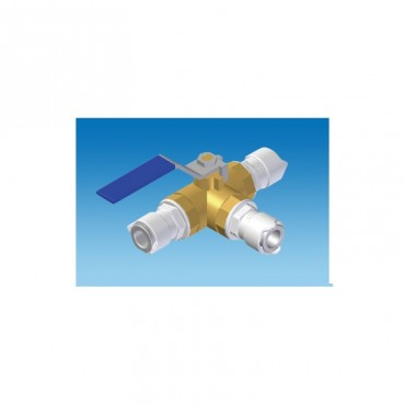 Caravan Push-Fit Three Way Shut Off Valve 12mm