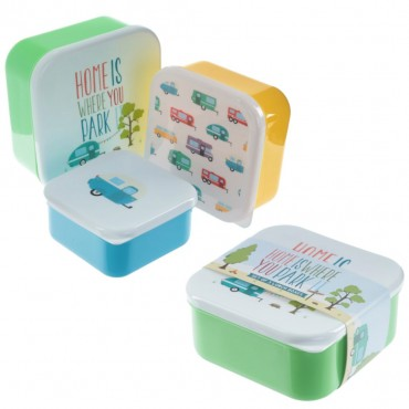 Pack of three stackable plastic Lunchboxes