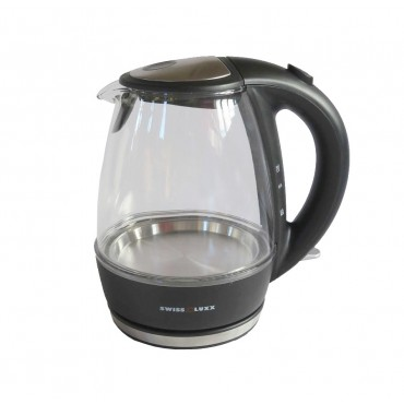 Swiss Lux Low Wattage 1.0 Litre Glass Cordless Kettle