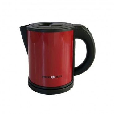 Swiss Lux Colourways 1.0 Litre Low Wattage Caravan Kettle - Ruby Red