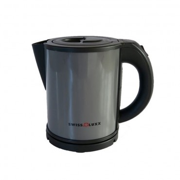 Swiss Lux Colourways 1.0 Litre Low Wattage Caravan Kettle - Tungsten Grey