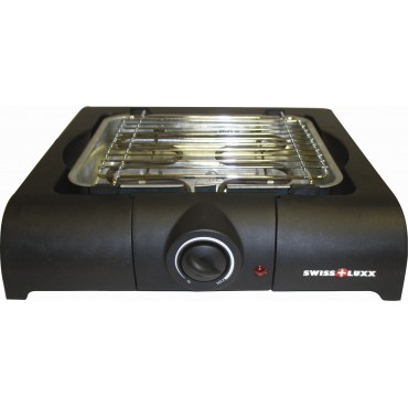 Swiss Lux Low Wattage Lightweight Compact Electric Barbecue
