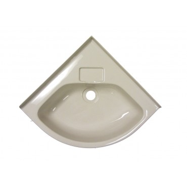 Small Corner Basin For Caravan Or Camper - Ivory