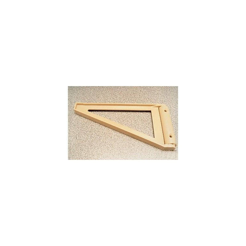 Caravan Kitchen Accessories: Caravan Beige Flap / Shelf Triangular 19cm Support