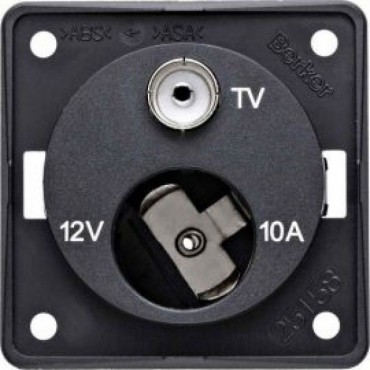 Berker 12v Cigar & TV Point Socket