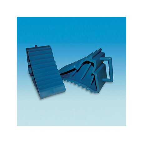 Caravan Pair Of Wheel Chocks - Blue