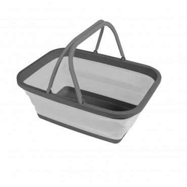 Kampa Small Folding Silicone Washing Up Bowl - Grey