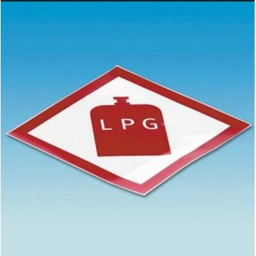 Caravan Campervan Gas Locker Box Lpg Gas Sticker
