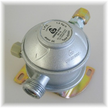 Cavagna Fixed Gas Bulkhead Regulator 180° 8mm
