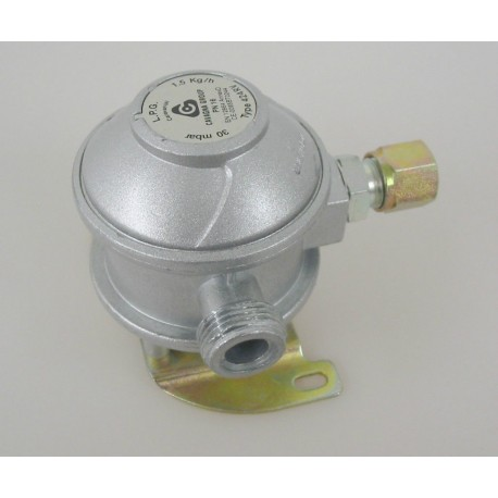 Cavagna Fixed Gas Bulkhead Regulator 90° 8mm
