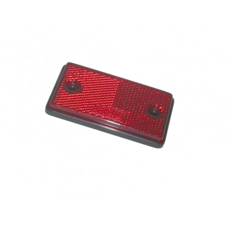 Self Adhesive Red Rectangular Reflector