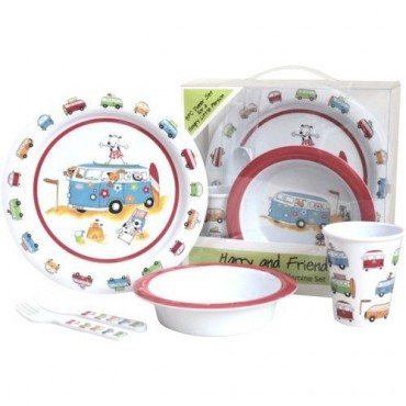 Melamine Child Set - Harry And Friends - 5 Piece