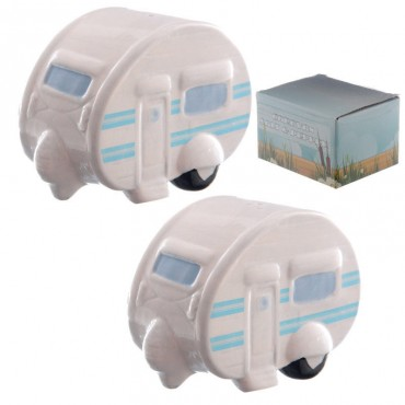 Ted Smith Design Ceramic Caravan Salt & Pepper Shakers