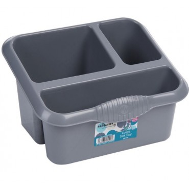 Casa Kitchen Sink Tidy 3 Compartments - Silver