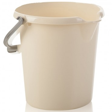 Wham 10ltr Plastic Bucket with Handle in Cream