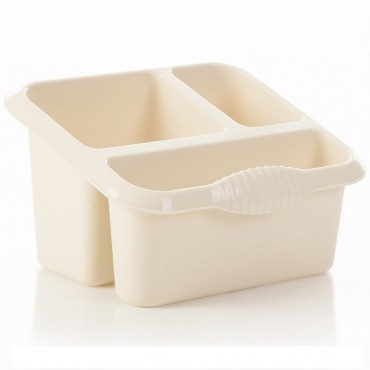 Casa Kitchen Sink Tidy 3 Compartments - Cream