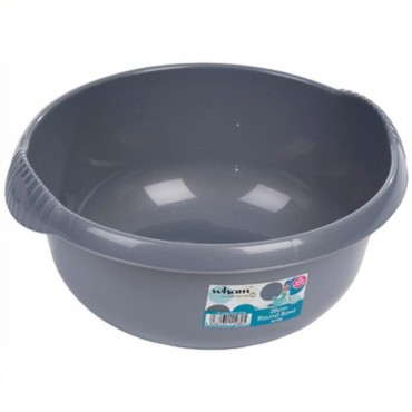 Casa Small 28cm Round Washing up Bowl - Silver