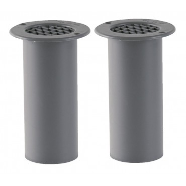 Gas Drop Vent Grey 120mm x 2