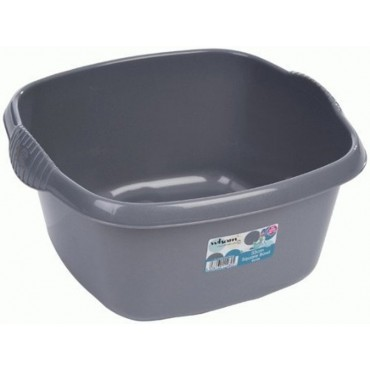 Casa Small Square Silver Washing Up Bowl - 32cm