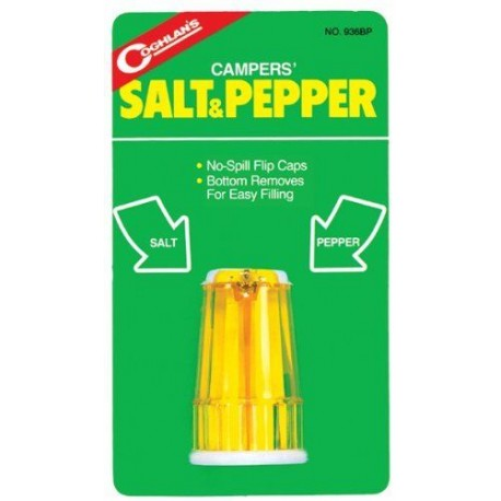 Salt & Pepper Condiment Click Close Shaker