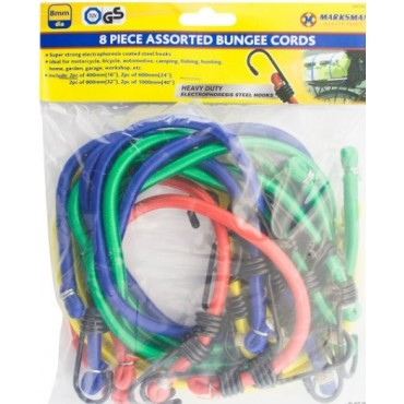 8 X Bungee Cords Elastic for Camping, Boating, Caravan