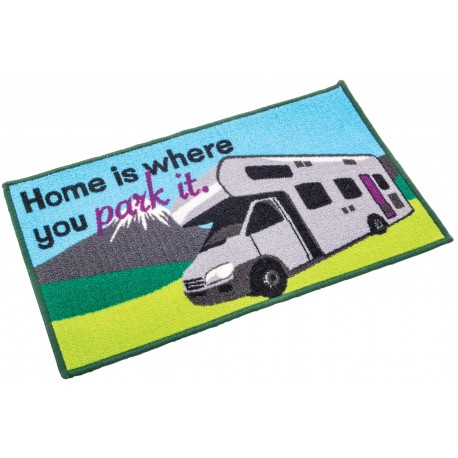 "Motorhome ""Home is where you pitch it"" Door Mat"