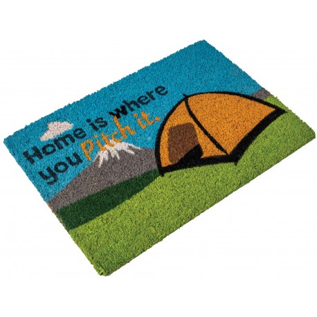 "Quest Heavy Duty Coir Home is where you Pitch it"" Door Mat"