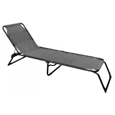 Quest Hampton Easy Folding Textilene Sun Lounger / Camp Bed