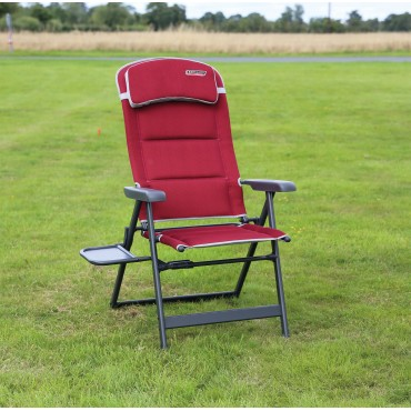 Quest Elite Bordeaux Pro Lightweight Folding Easy Camping Chair with Side Table