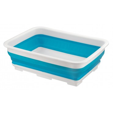 Home+ Collapsible Silicone Rectangular 10 Litre Washing Up Bowl