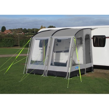 2019 Kampa Rally 260 Lightweight Caravan Porch Awning - Pearl Grey