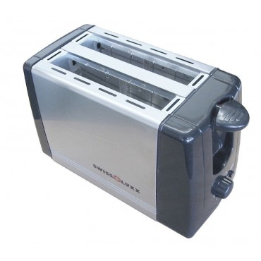 Swiss Lux Compact Low Wattage Steel Toaster