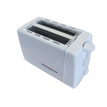 Swiss Lux Compact Low Wattage White Toaster