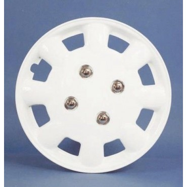 "Pair Of Milenco Caravan 14"" White Wheel Trims"