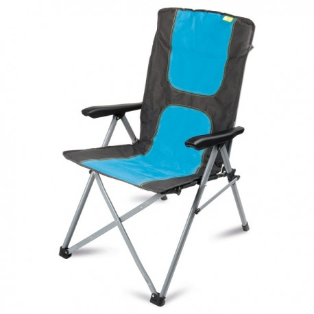 Kampa Consul Folding Reclining Camping Chair - Blue